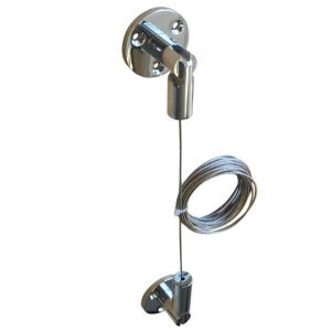 Wall-Floor-Ceiling Cable Kit Chrome (7230610)