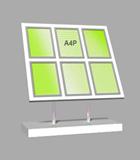 Portrait A4 LED Light Panel 3 wide x 2 high Bevelled (6260215B)
