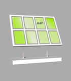 Portrait A4 LED Light Panel 4 wide x 2 high Bevelled (6260315B)