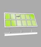 Portrait A4 LED Light Panel 6 wide x 2 high Bevelled (6260515B)