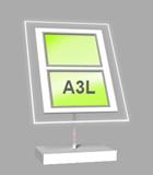 Landscape A3 LED Light Panel 1 wide x 2 high Bevelled (6260615B)