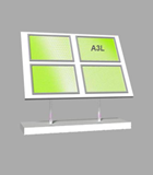 Landscape A3 LED Light Panel 2 wide x 2 high Bevelled (6260715B)
