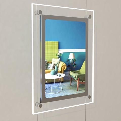 Portrait LED Light Window Pocket Display Kit Single A4 (6200015)