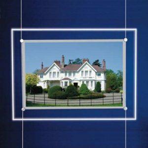 Landscape LED Light Window Pocket Display Kit Single A4 (6200515)