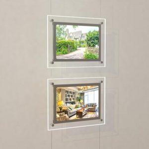Landscape LED Light Window Pocket Display Kit Double A4 (6200615)