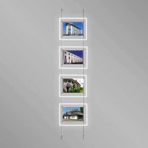 Landscape LED Light Window Pocket Display Kit Quad A4 (6200815)