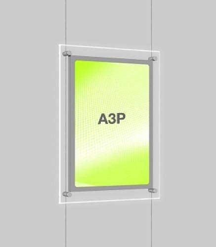 Portrait LED Light Window Pocket Display Kit Single A3 (6201015)