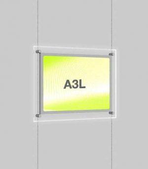 Landscape LED Light Window Pocket Display Kit Single A3 (6201515)