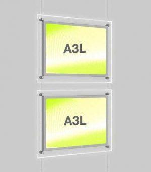 Landscape LED Light Window Pocket Display Kit Double A3 (6201615)