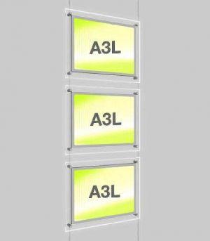 Landscape LED Light Window Pocket Display Kit Triple A3 (6201715)