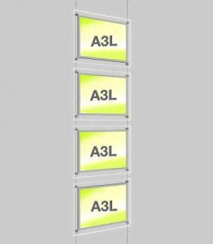 Landscape LED Light Window Pocket Display Kit Quad A3 (6201815)