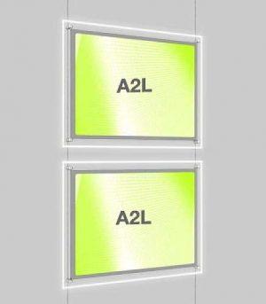 Landscape LED Light Window Pocket Display Kit Double A2 (6202615)