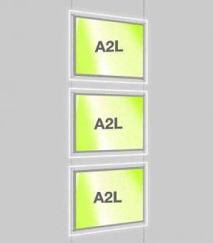 Landscape LED Light Window Pocket Display Kit Triple A2 (6202715)
