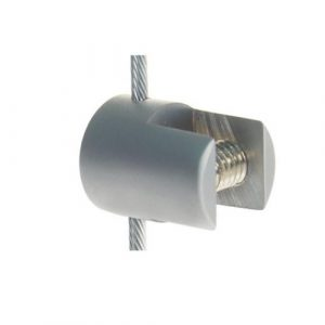 Satin Vertical Cable Clip for 3mm cable and rod to hold panels up to 8mm (6227213)