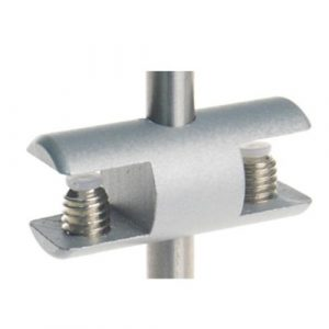 Rod Double Shelf Clamp Satin (6212413)