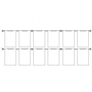 Hook On Wall Pocket Display Kit 12xA4 2 high x 6 wide (6253515)