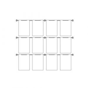 Hook On Wall Pocket Display Kit 12xA4 3 high x 4 wide (6253715)