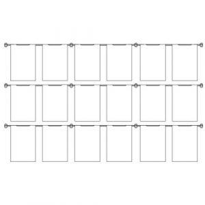 Hook On Wall Pocket Display Kit 18xA4 3 high x 6 wide (6253815)