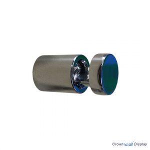 Aluminium side clamp 16mm x 19mm Polished Chrome (7231909)